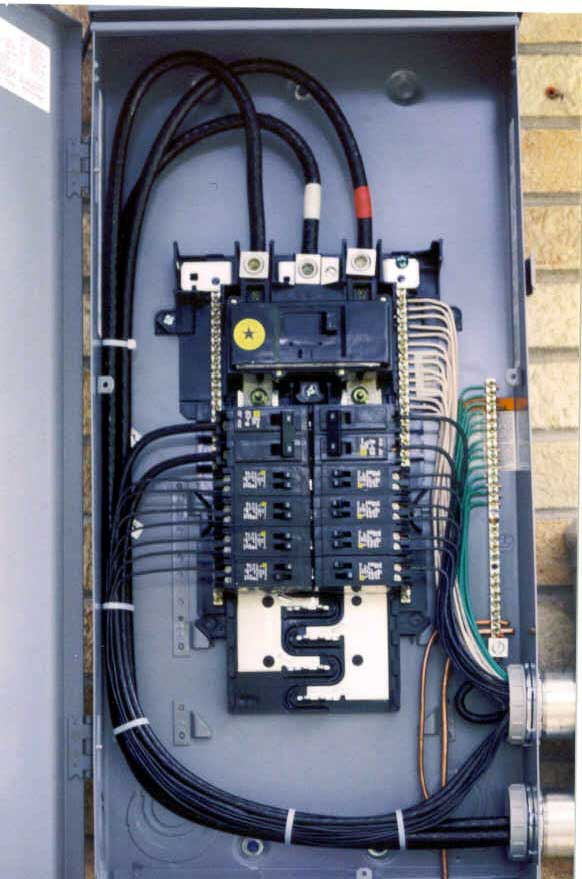Wiring Diagram 200 Amp Panel : Service panels and splice boxes aluminum wire repair inc