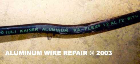 Wondrous Examples Of Aluminum Wiring Aluminum Wire Repair Inc Wiring Digital Resources Cettecompassionincorg
