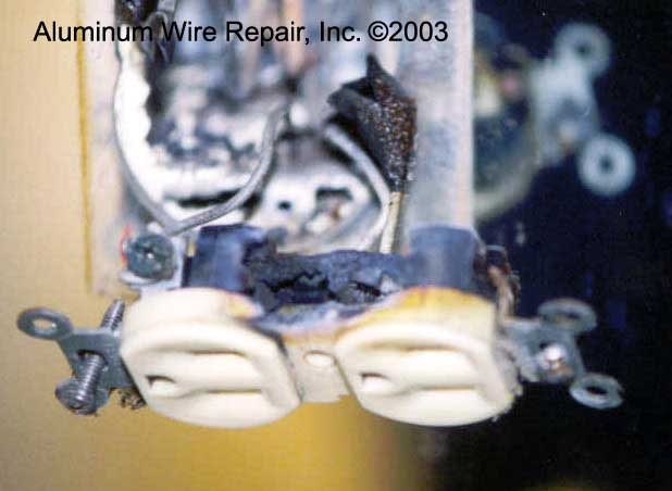 Burnt Devices Found In Homes Aluminum Wire Repair Inc